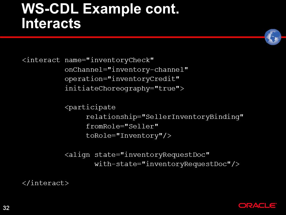 32 WS-CDL Example cont.