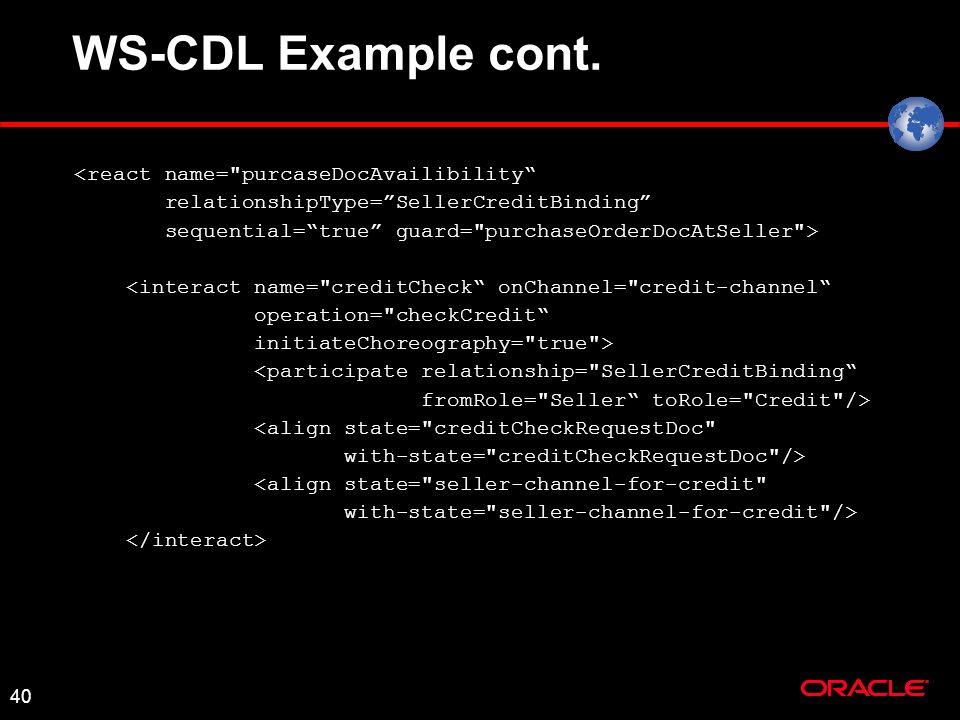 40 WS-CDL Example cont.
