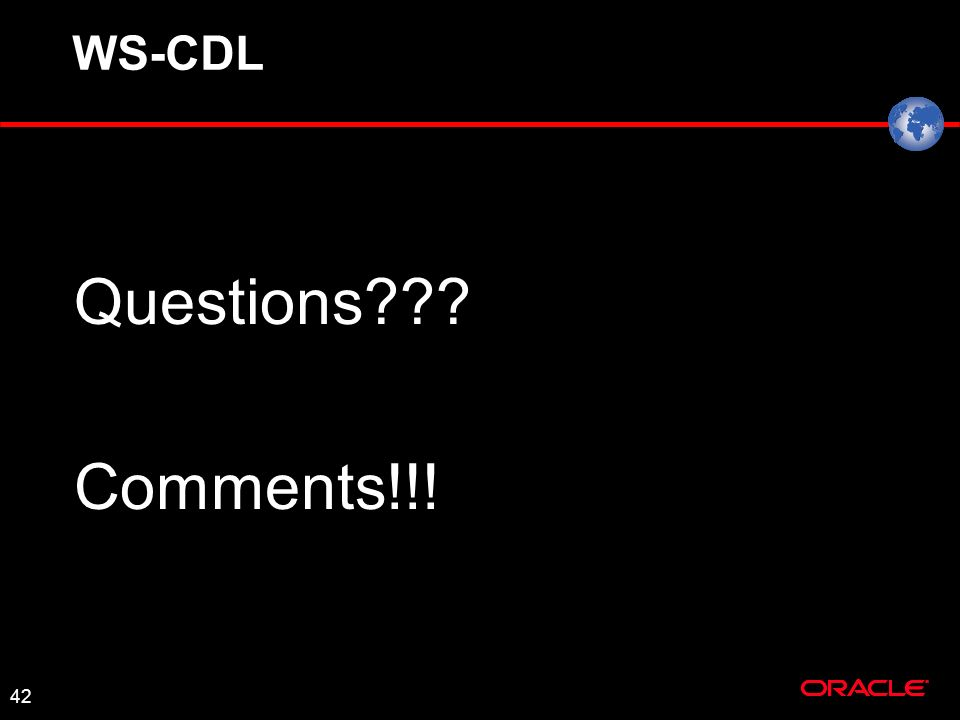 42 WS-CDL Questions Comments!!!