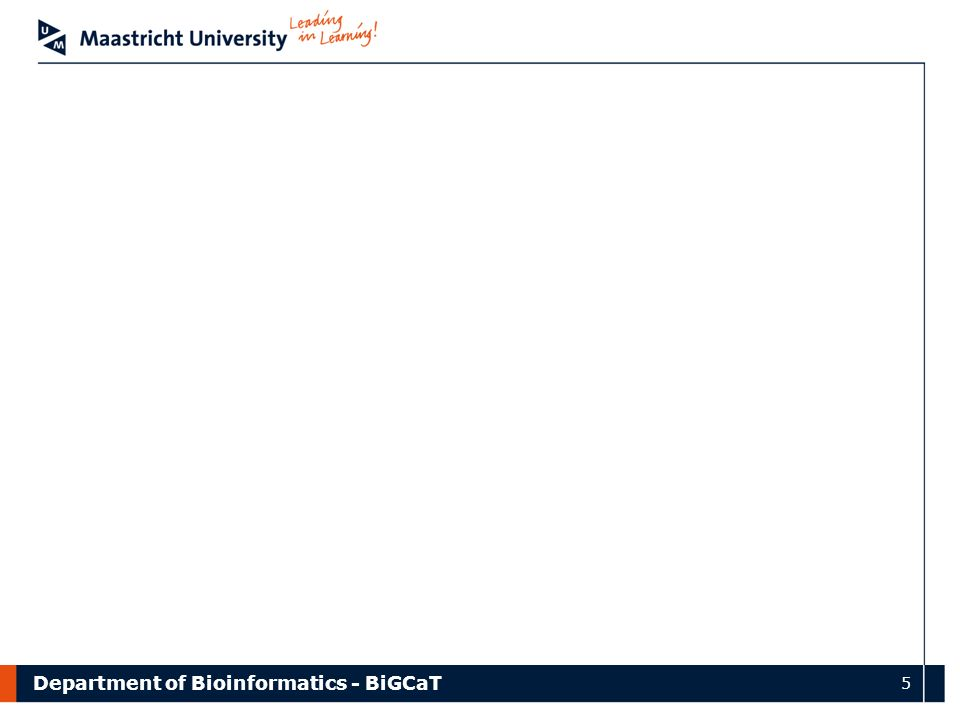 Department of Bioinformatics - BiGCaT 5