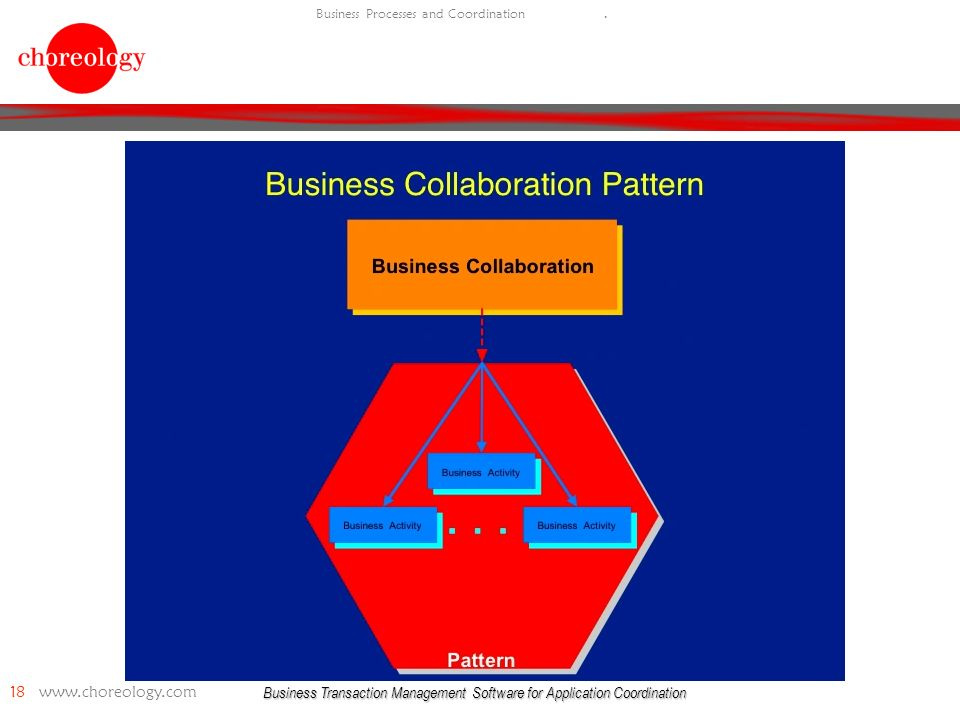 Business Transaction Management Software for Application Coordination 18 www.choreology.com Business Processes and Coordination.