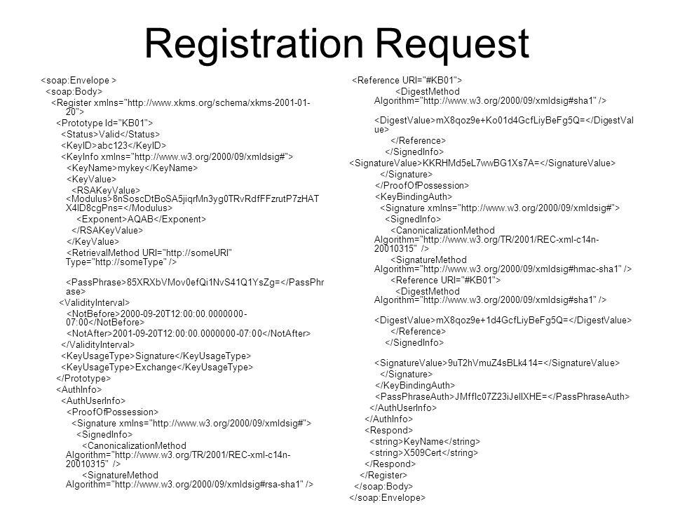Registration Request Valid abc123 mykey 8nSoscDtBoSA5jiqrMn3yg0TRvRdfFFzrutP7zHAT X4lD8cgPns= AQAB 85XRXbVMov0efQi1NvS41Q1YsZg= 2000-09-20T12:00:00.00