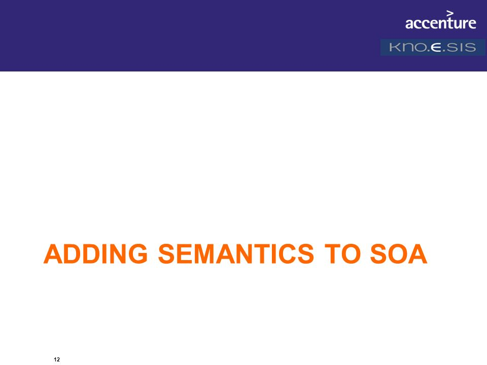 12 ADDING SEMANTICS TO SOA