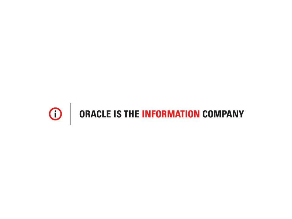 Oracle Confidential