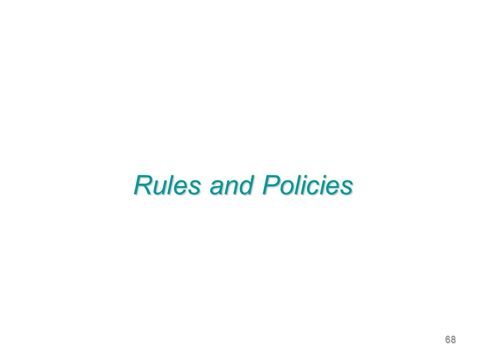 68 Rules and Policies