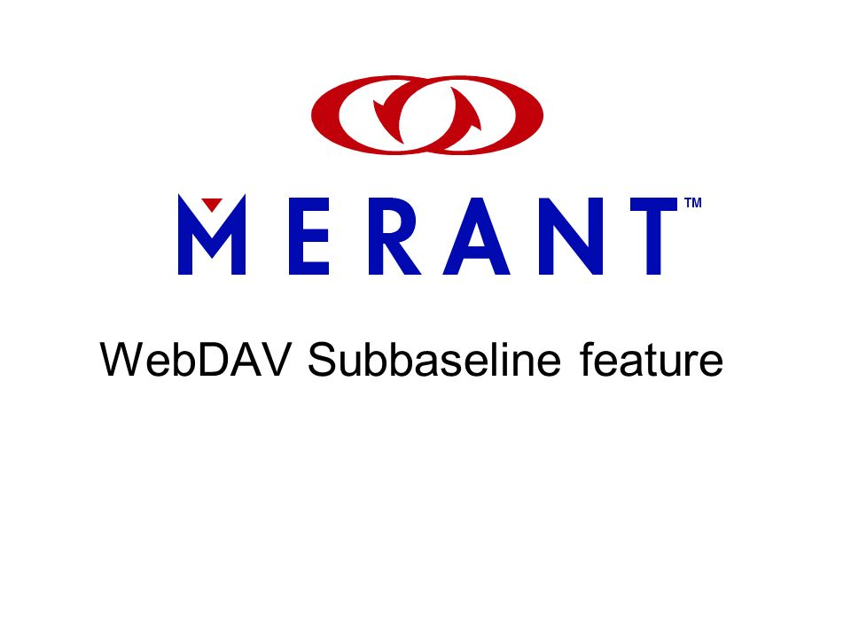 WebDAV Subbaseline feature