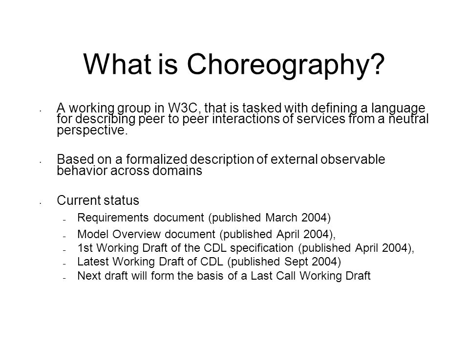 What is Choreography.