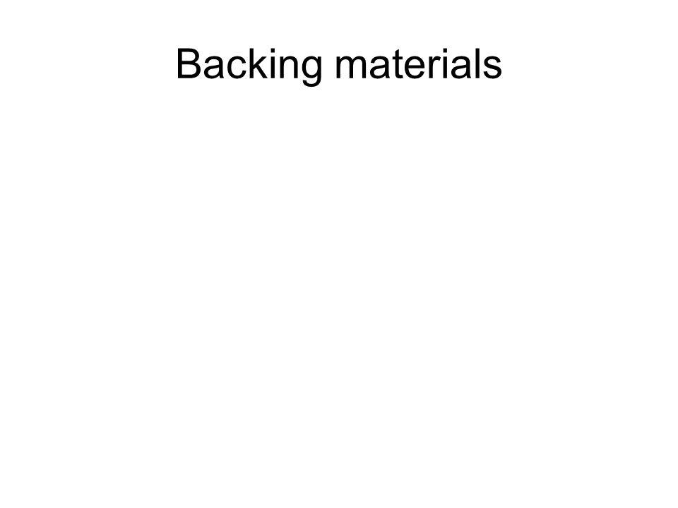 Backing materials