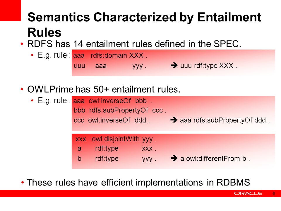 RDFS has 14 entailment rules defined in the SPEC. E.g.