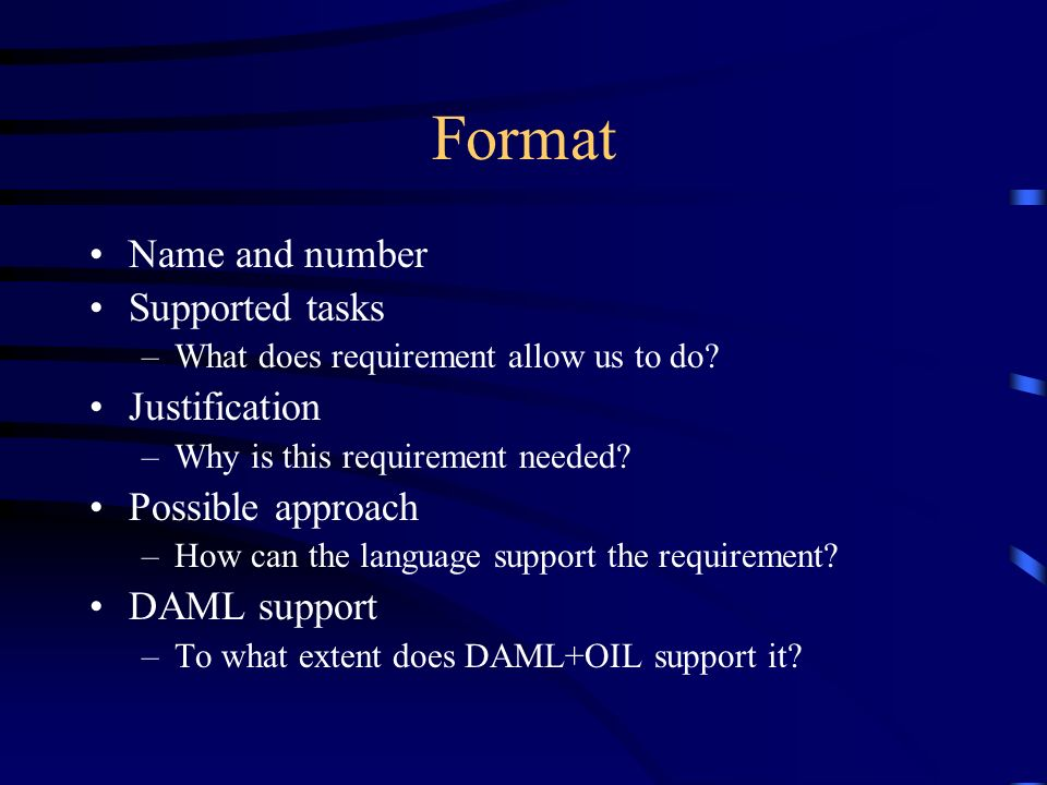 What is a Requirement.Possible criteria –if we dont meet it, we arent done – Dan C.