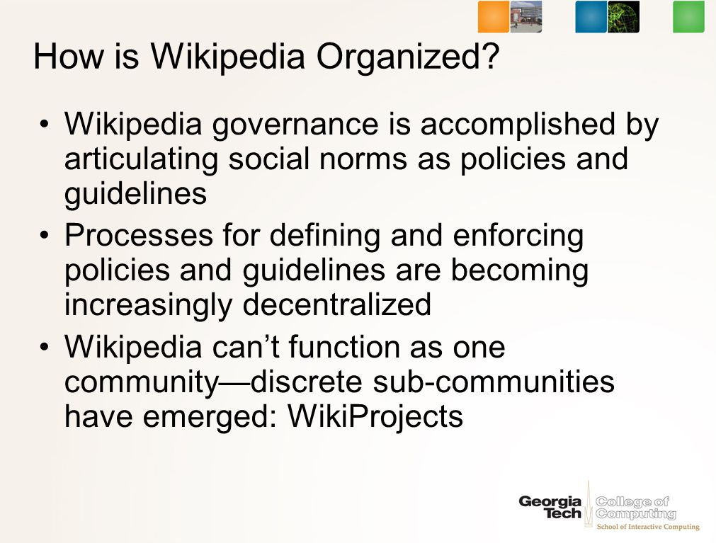 How is Wikipedia Organized.