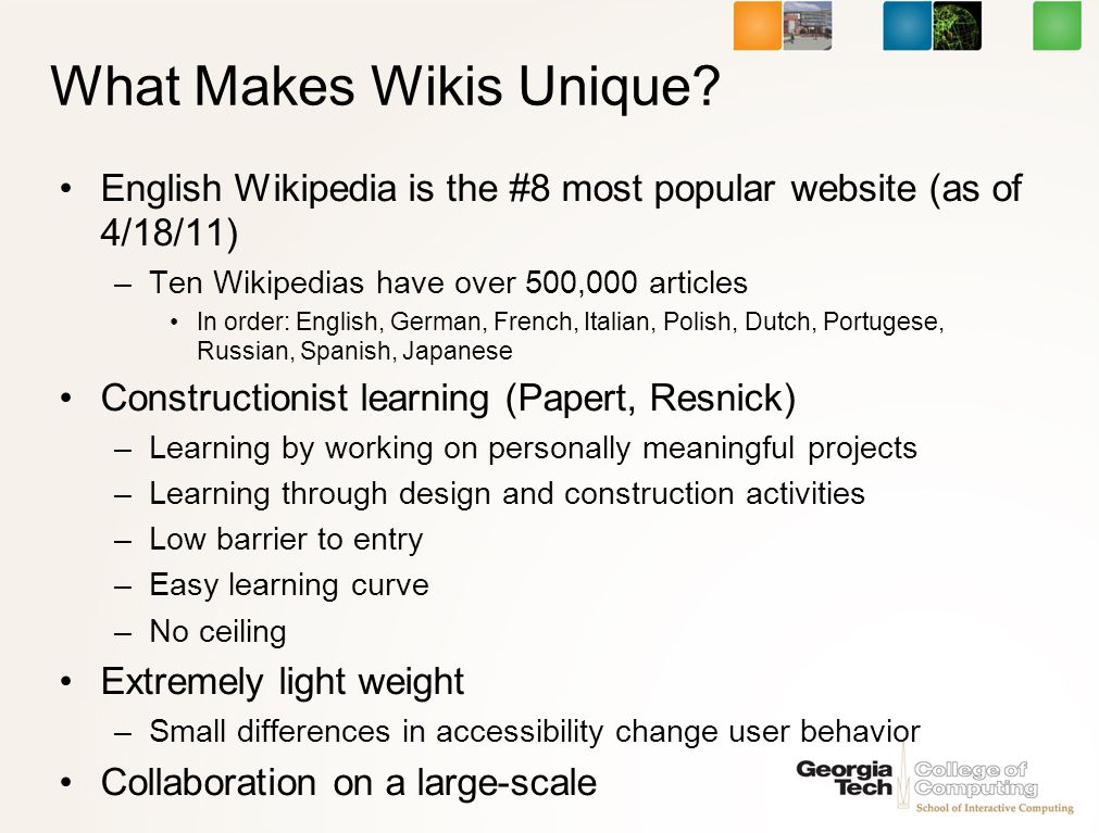 What Makes Wikis Unique.