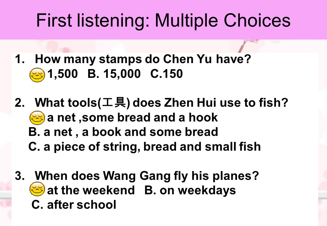 1.How many stamps do Chen Yu have.A. 1,500 B.