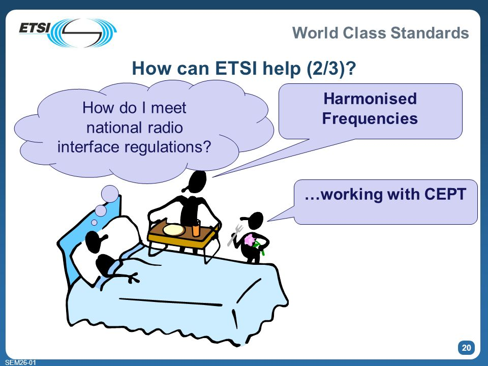 World Class Standards SEM How can ETSI help (2/3).