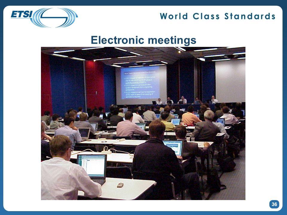 Electronic meetings 36