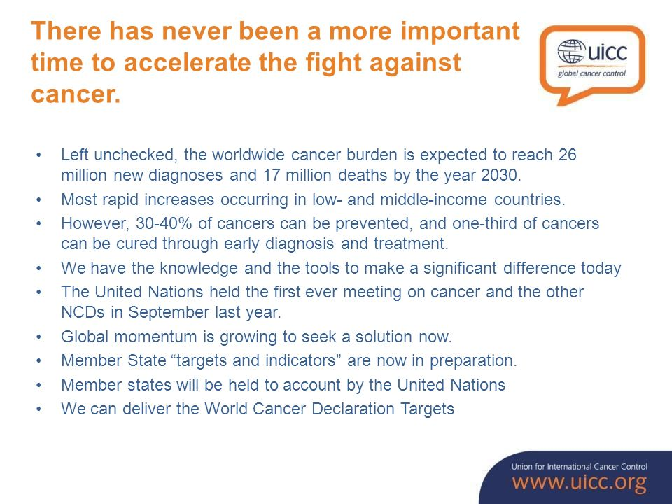 The actions we take now can change the course of the cancer crisis; we must ensure that the moment is not lost