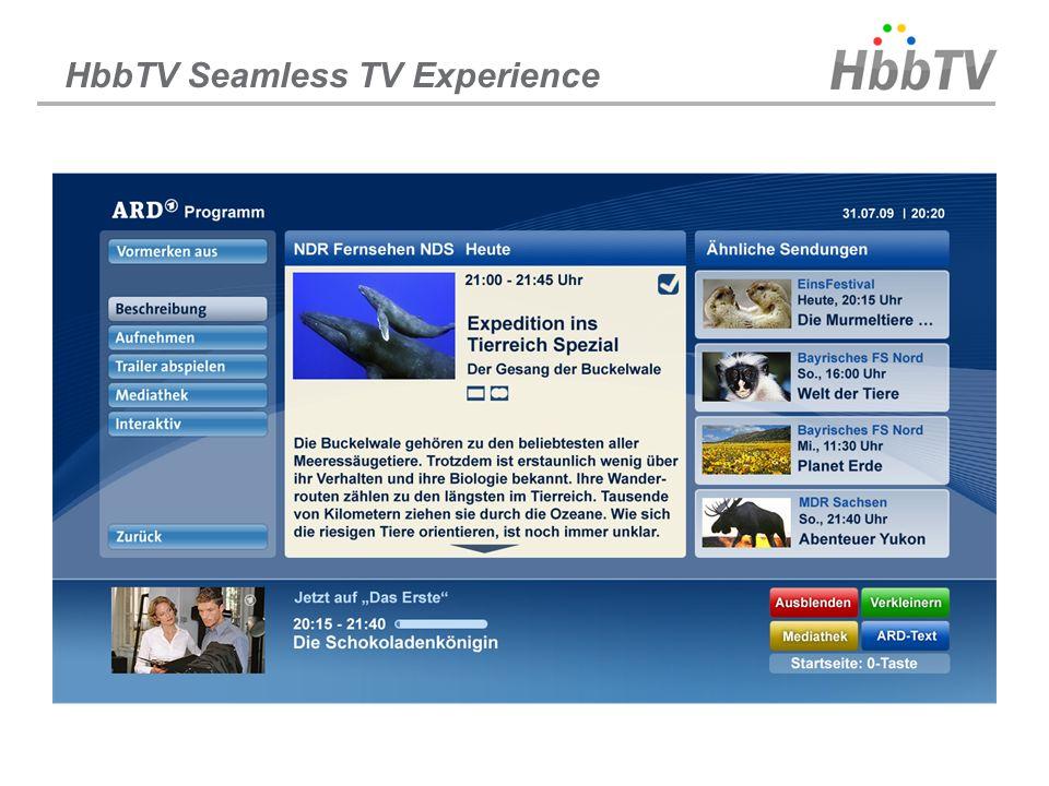 HbbTV Seamless TV Experience