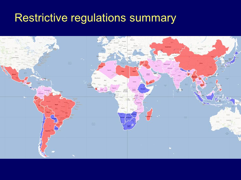Restrictive regulations summary
