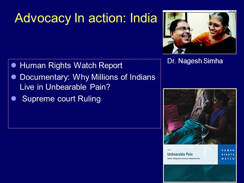 Advocacy In action: India Dr.