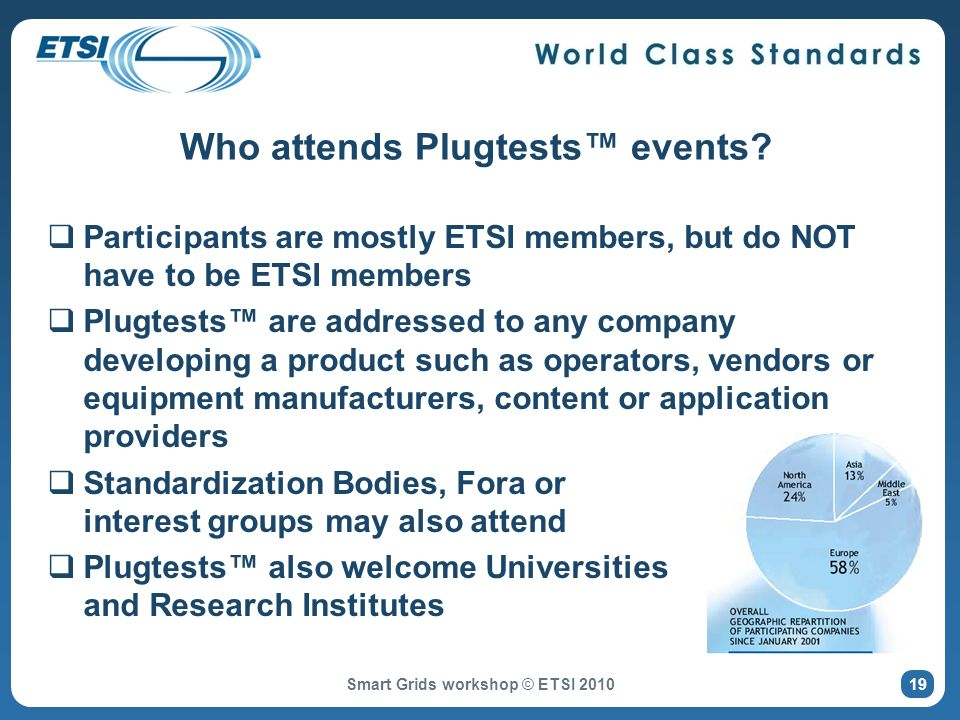 Who attends Plugtests events.