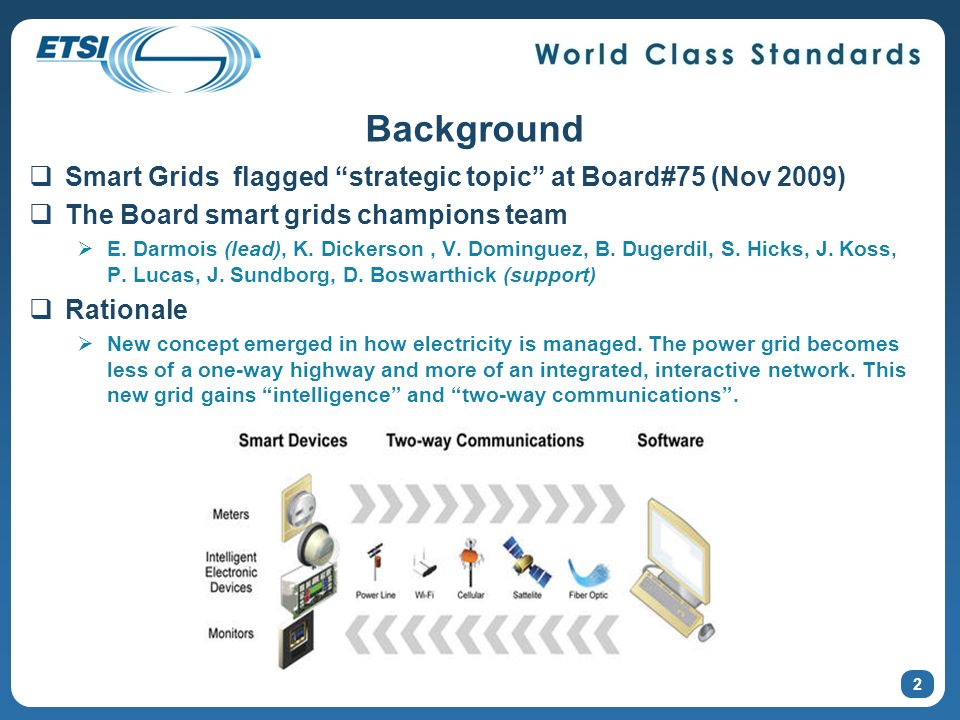 3 Issues for study include (strategic topic charter) What are the communication requirements for Smart grids entities.