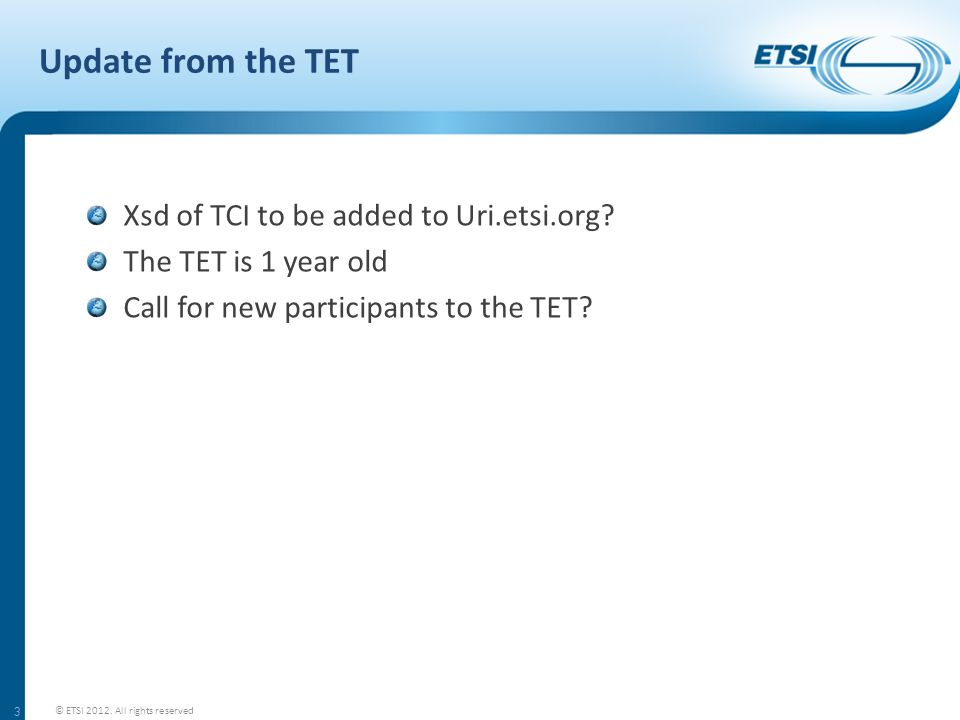 Update from the TET Xsd of TCI to be added to Uri.etsi.org.