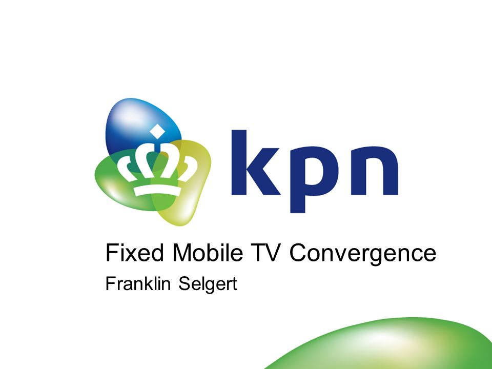 Q3 20072 KPN Royal Dutch Telecom Telephony, Internet and Television in The Netherlands Mobile communication in The Netherlands, Belgium (BASE) and Germany (E-Plus) 24.890 employees (ftes) (18.071 in The Netherlands) Listed in Amsterdam.