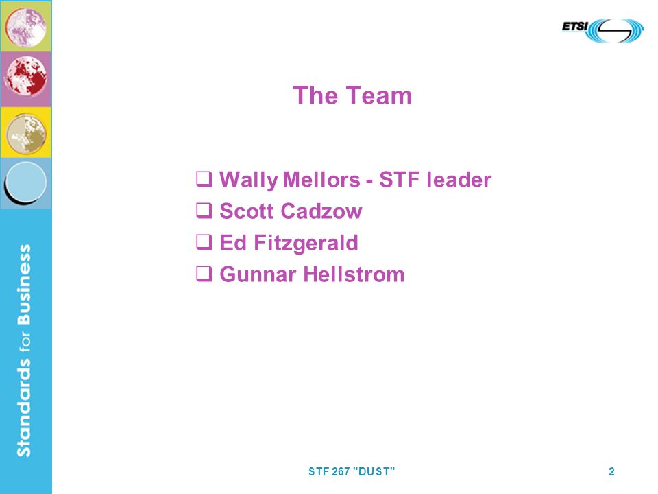 STF 267 DUST 2 The Team Wally Mellors - STF leader Scott Cadzow Ed Fitzgerald Gunnar Hellstrom