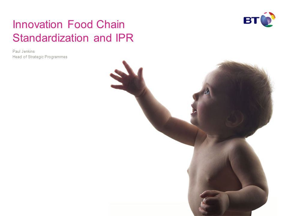 Innovation Food Chain Standardization and IPR Paul Jenkins Head of Strategic Programmes