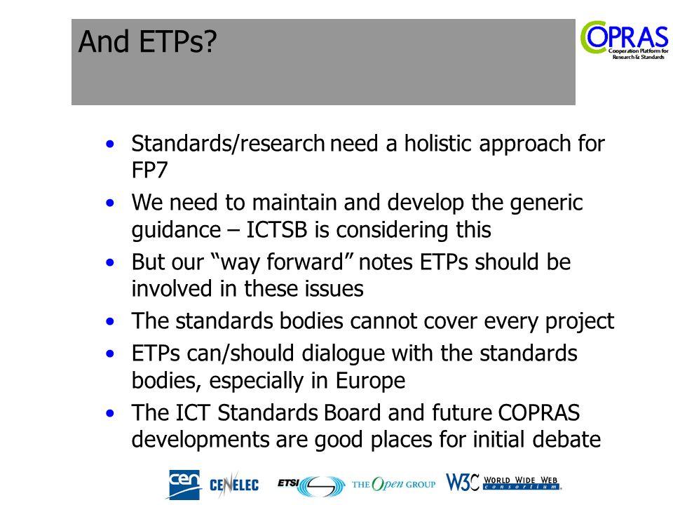 And ETPs.