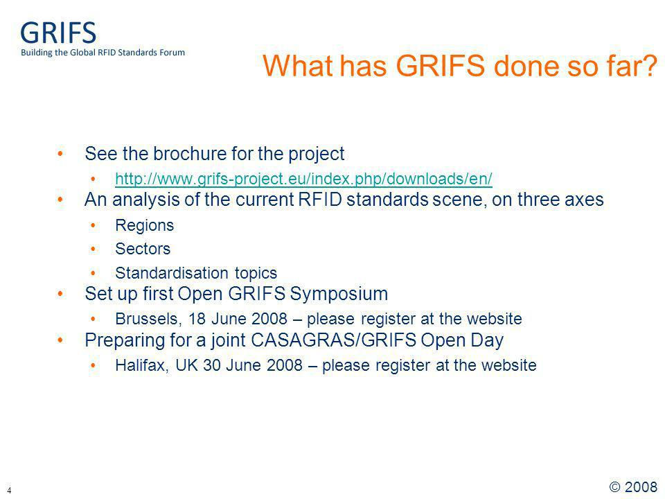 © What has GRIFS done so far.