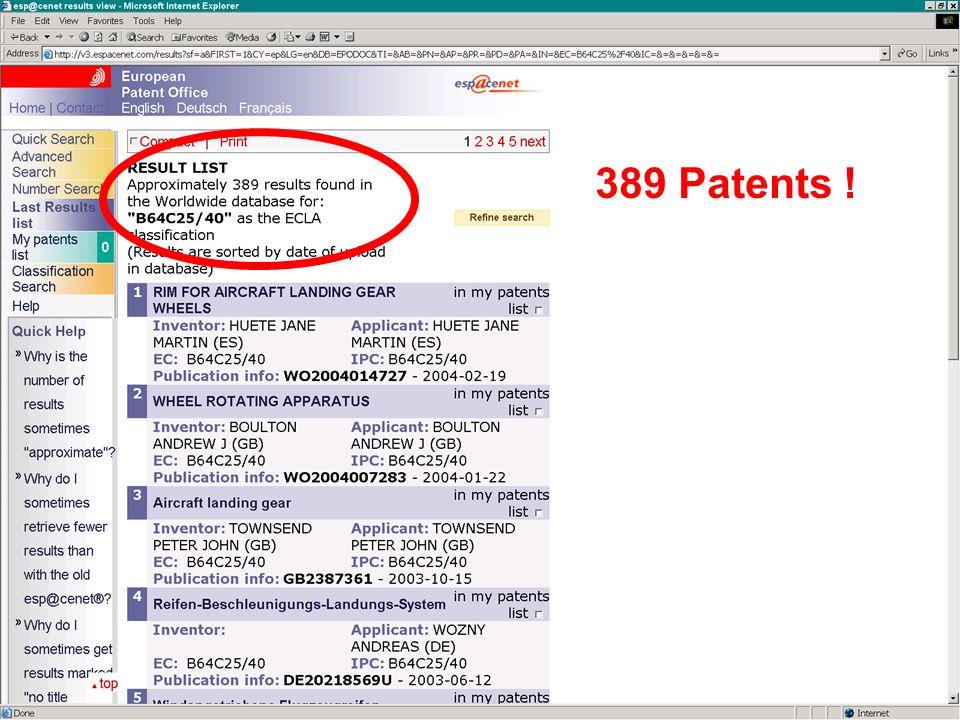33 B64C25/40 389 Patents !