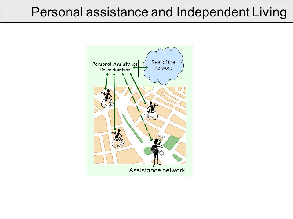 Personal assistance and Independent Living Personal Assistance Co-ordination Rest of the network Assistance network