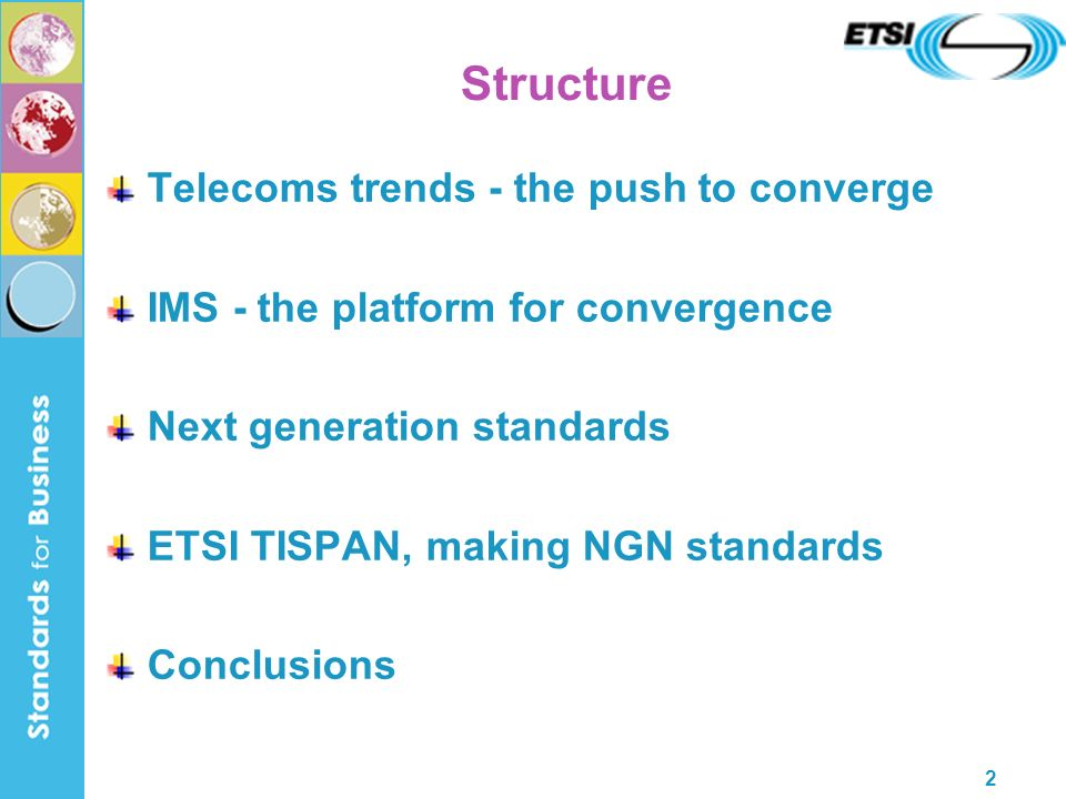 23 TISPAN NGN Architecture (Access) Network Attachment Subsystem Access Transport Network Core Transport Network IP (SIP-based) IP Multimedia Subsystem (Core IMS) Resource Control Subsystem Responsible for elements of policy control, resource reservation and admission control.