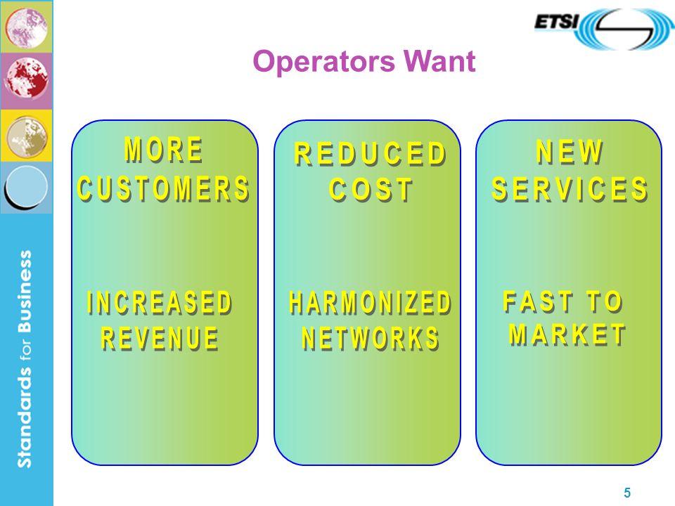 5 Operators Want