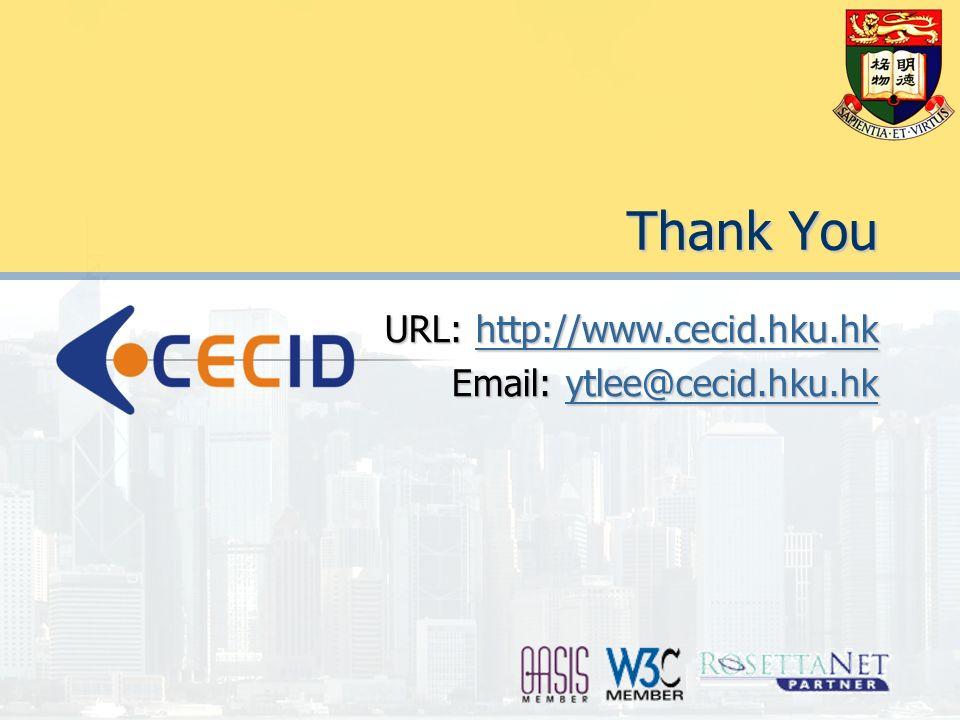 Thank You URL: http://www.cecid.hku.hk http://www.cecid.hku.hk Email: ytlee@cecid.hku.hk ytlee@cecid.hku.hk