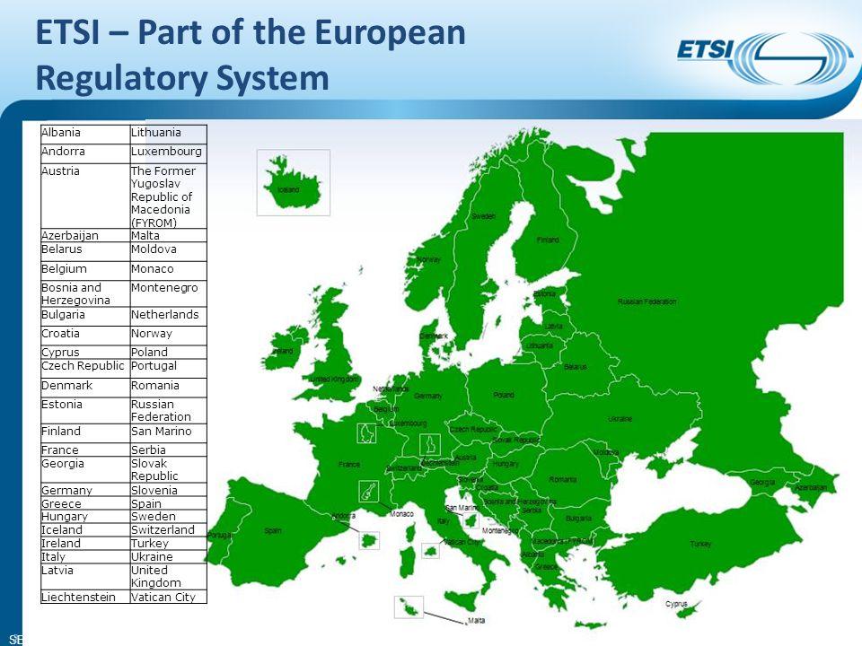 SEM26-01 Directives and Regulations (equipment) Radio & Telecommunications Terminal Equipment (RTTE) Directive 1999/5/EC (under revision) ElectroMagnetic Compatibility (EMC) Directive 2004/108/EC (updates 89/336/EEC) Radio Spectrum Decision 676/2002/EC
