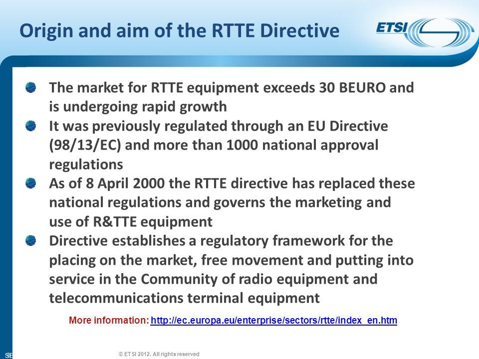 SEM26-01 Legal certainty in EU/EFTA.© ETSI 2012.