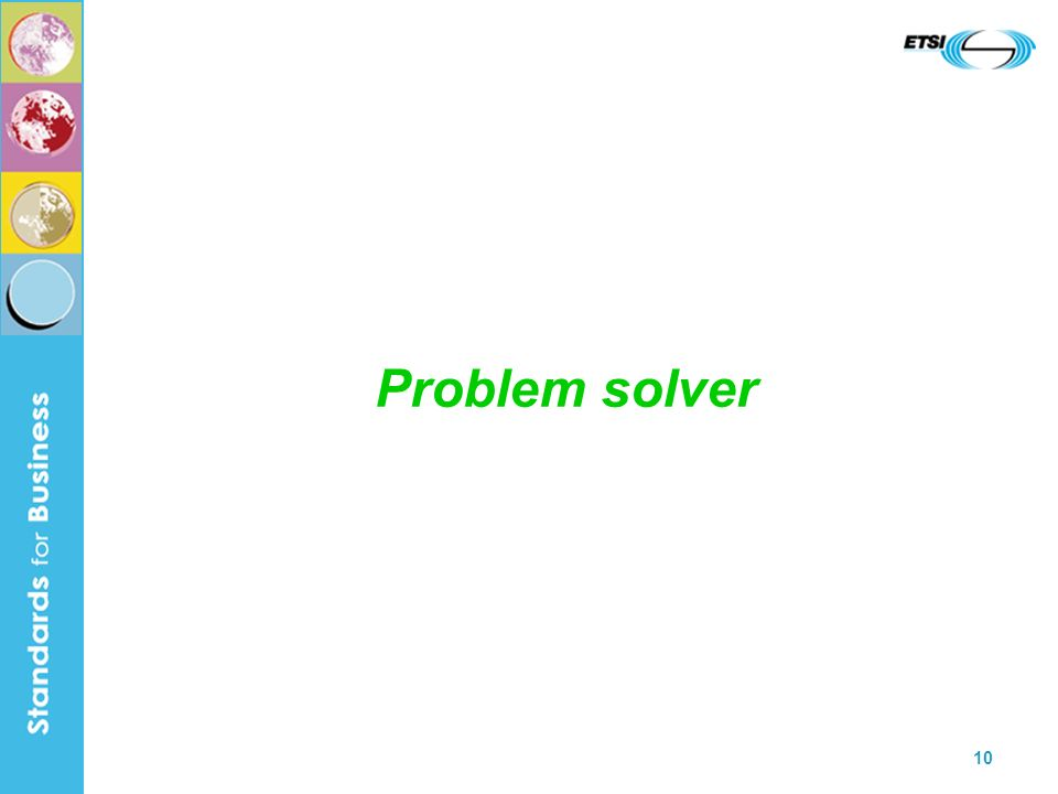 10 Problem solver