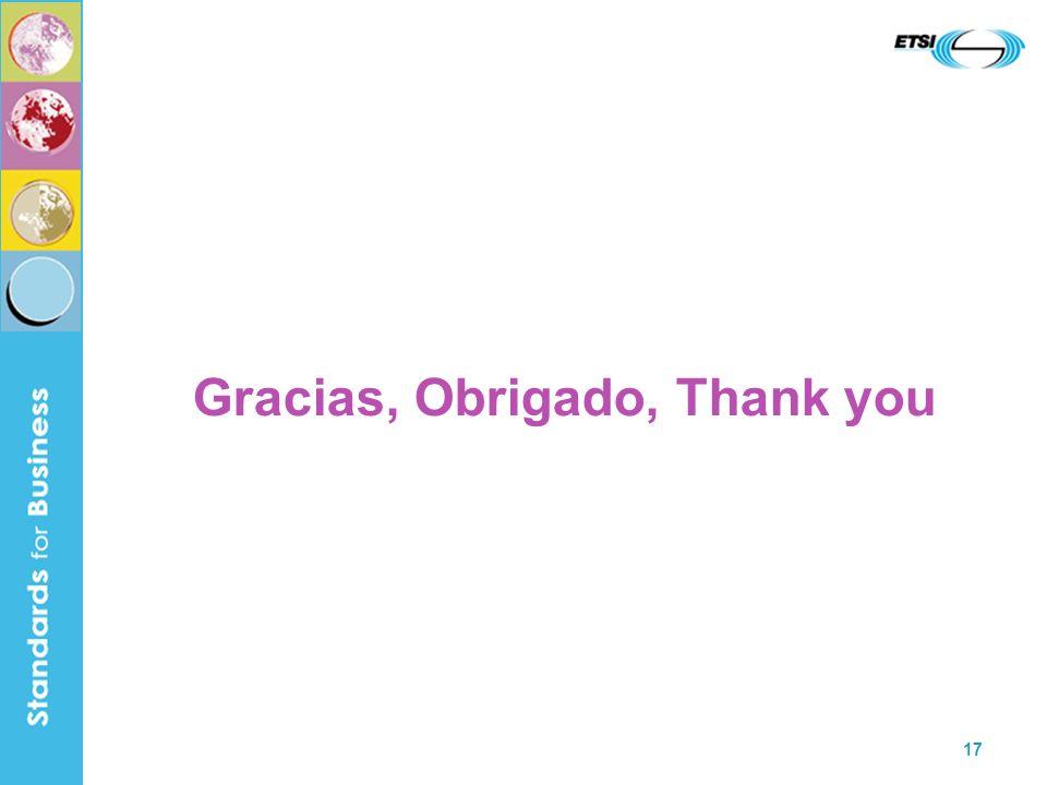 17 Gracias, Obrigado, Thank you