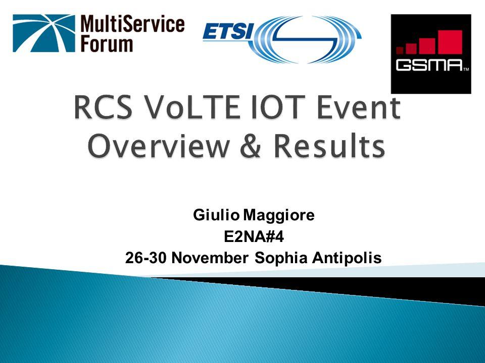 Sintesio LTE UE 3 rd partyD2Tech VoLTE Client RadisysD2Tech RCS Client D2Tech eNodeB Telekom Slovenia EPC (MME+SGW+PGW) Cisco (Milan) HSS Iskratel (Kranj) PCRF Tekelec (USA) P-CSCF/IMS-ALG Cisco (Milan) Iskratel (Kranj)Metaswitch I/S-CSCF Cisco (Milan) Iskratel (Kranj) MMTel AS Genband (Turkey)Iskratel MRF Radisys Iskratel (Kranj) RCS Video Share AS Genband (Turkey) RCS IM/Chat Server Genband (Turkey) IBCF-TrGW Iskratel (Kranj)Metaswitch DRA Ulticom IPX Aicent (USA) ENUM Neustar (USA) Monitoring Equipment JDSU Local Remote (location)