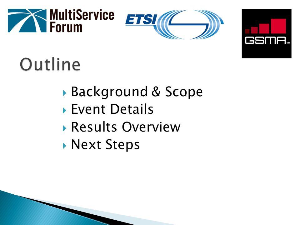 Multi-vendor interoperability of UE, eNodeB, EPC, IMS/MMTEL, RCS AS, DRA and PCC technology.