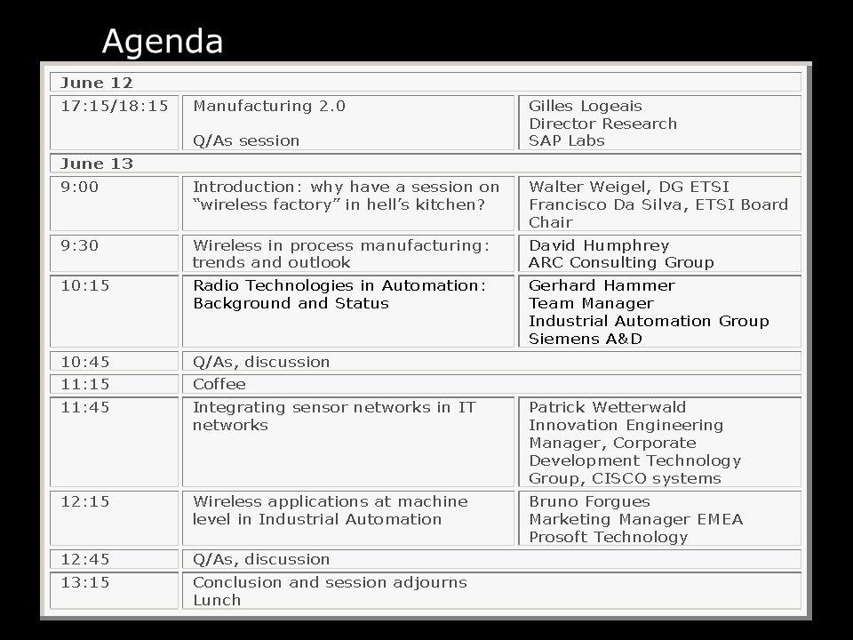 10 Agenda