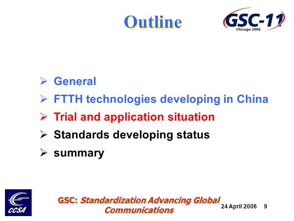 24 April 2006 10 GSC: Standardization Advancing Global Communications Advantaged conditions 10K No.