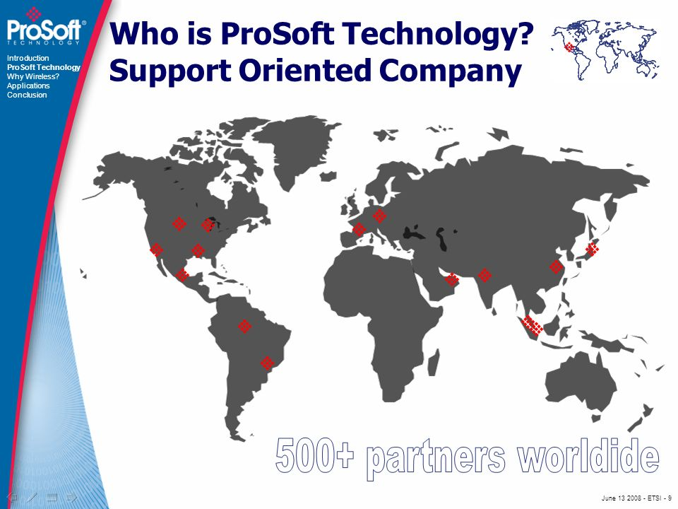 June ETSI - 9 Who is ProSoft Technology.