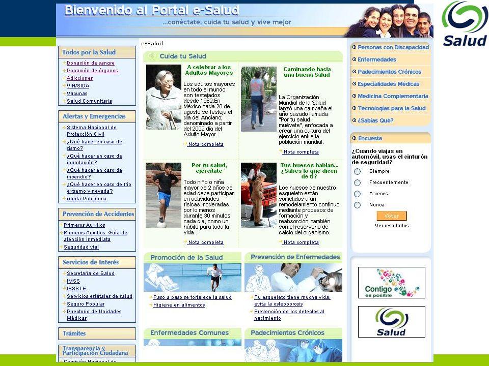 Overview Several telemedicine efforts –Guerrero, Oaxaca, Puebla, Nuevo León, Chiapas, Tamaulipas –National Institutes of Health Cardiology, Nutrition, Rehabilitation and Ortopedics, Pediatrics Several information system development projects –Sinaloa, Puebla, INR, INER, Legacy and Commercial Applications –OpenVista