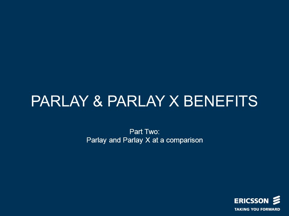 Slide title In CAPITALS 50 pt Slide subtitle 32 pt PARLAY & PARLAY X BENEFITS Part Two: Parlay and Parlay X at a comparison
