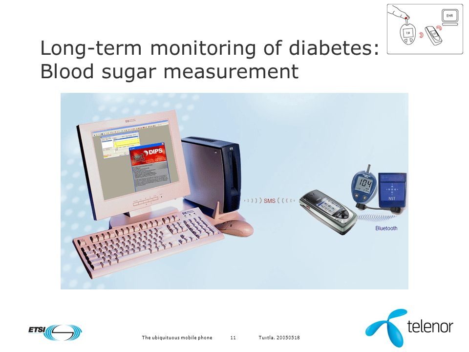 Tuxtla, The ubiquituous mobile phone11 Long-term monitoring of diabetes: Blood sugar measurement
