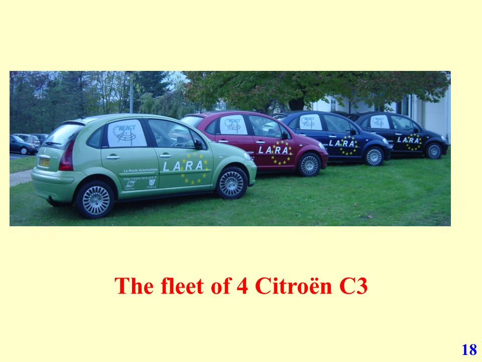 18 The fleet of 4 Citroën C3
