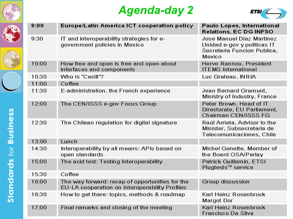 21 Agenda-day 2